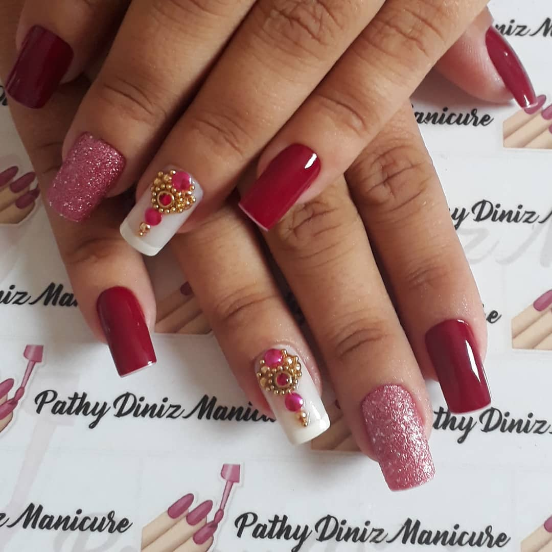 tendencias de Unhas Decoradas Quadradas