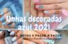Unhas decoradas azul 2021