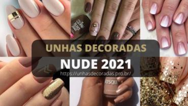 Unhas decoradas nude 2021
